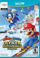 NEUF Mario et sonic at the Sochi 2014 OLYMPIQUE HIVER JEUX NINTENDO WII U 2013