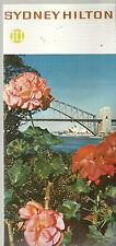 Sydney Hilton Brochure 1973