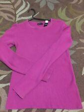 Moda International Women Sweater Pink Size S Small