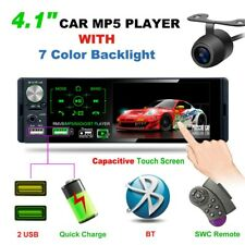 4.1''AM FM Car Radio Touch Screen Stereo MP5 Player Bluetooth SWC RDS +Camera