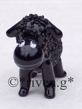 BLACK SHEEP ORNAMENT@Glass FIGURINE@Collectable Gift@CUTE FARM Animal@WOOLLY EWE