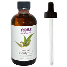 Eucalyptus Oil (100% Pure), 4 oz Plus Glass Dropper - NOW Foods Essential Oils