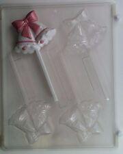 WEDDING BELLS LOLLIPOP CLEAR PLASTIC CHOCOLATE CANDY MOLD W027