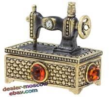 Bronze Solid Brass Baltic Amber Original Needle Case Sewing Machine IronWork