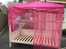 Fabulous Single girls wooden Four Poster Bed Frame Canopy collection leics LE19