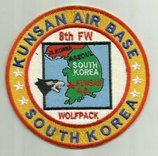 USAF BASE PATCH, KUNSAN AIR BASE , SO. KOREA,  8TH FW, WOLFPACK