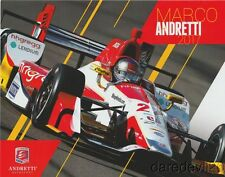 2017 Marco Andretti hhgregg Honda Dallara St Pete Indy Car postcard
