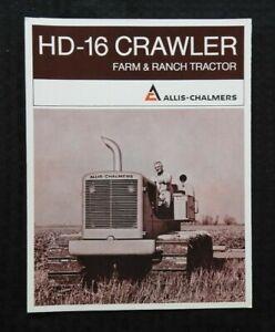 "1969 ALLIS-CHALMERS MODEL HD-16 FARM & RANCH CRAWLER TRACTOR"" BROCHURE VERY NICE"