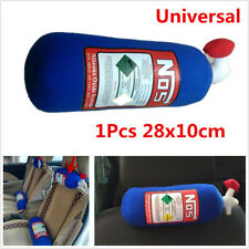 28x10cm NOS Bottle Tank Style Pillow Plush Seat Headrest Blue For Car Travel New