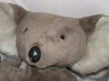 "RARE Vintage 70s 1977 GUND Plush Big 24"" Hugging GRAY KOALA BEAR Molded Claws"