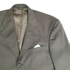 VTG Firado Mens Italian Super 100's Wool Sport Coat Suit Jacket Brown Sz 36S