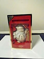 2004 Lenox Snowman With Lantern Ornament Sixth And Last In Series
