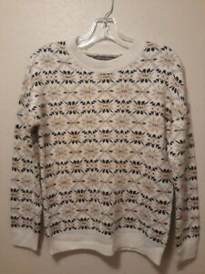 Chelsea + Theodore Fair Isle Knit Pullover Sweater $88 Size M