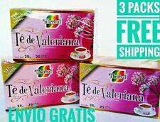 (3 Packs) VALERIAN TEA 75 BAGS 1 g. ea TE DE VALERIANA FREE SHIPPING Exp 07/2022