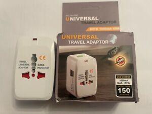 2 USB universal Travel Adapter Charging 5V Portable Multi-Socket UK Stock