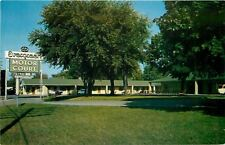 Bristol Virginia~Blonde Brick Evergreen Motor Court 1950s