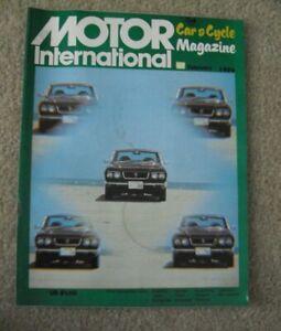 Vintage February 1974 Dell Motor International Car Automotive Magazine