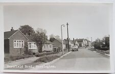 Eastfield Road, Messingham, Lincolnshire postcard, AW Bourne, RP