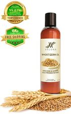 Wheat Germ Oil 8 oz REFINED NATURAL Cold Pressed 100% PURE VELONA