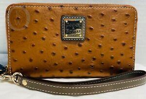 NWT*Dooney & Bourke*BRONZE*Ostrich*Zip Around*Leather Wallet/Wristlet*21143E