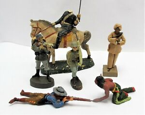 Composition Soldiers, Cowboys & Indians by Elastolin & Others - (3194)