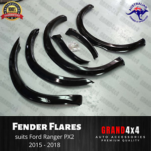 Slim Gloss Black Fender Flares for Ford Ranger PX2 2015-2018 Wheel Arch Guard