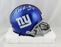 Michael Strahan Autographed New York Giants Mini Helmet W/ HOF- JSA W Auth *Whit
