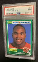 1989 Score Football #258 Derrick Thomas Rookie RC PSA 9 MINT Kansas City Chiefs