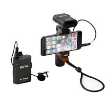 New BOYA BY-WM4 Universal Lavalier Wireless Microphone Mic Real time iPhone 8 7