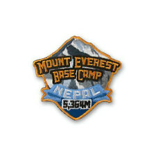 Mount Everest Base Camp Nepal Patch Embroidered Iron on Badge Trek Souvenir Map