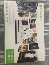NEW IN BOX Microsoft Xbox One S 500GB White Console with Starter Bundle