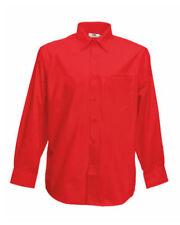 Camisas de vestir de hombre rojos de poliéster
