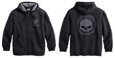 Harley-Davidson Men's hooded Skull sudadera talla L-caballeros Hoodie, gris