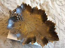 Huge Walnut Wood Leaf Music Dish Stand Box Carved Plays Waltz March European Old