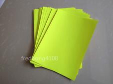 50 Sheet Fluorescent Yellow A4 Matte Self Adhesive Label Sticker Printer Paper