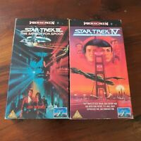 2x Star Trek Movies III The Search For Spock IV Voyage Home VHS Aus PAL