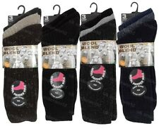 6 Pairs Mens Thick Wool Thermal Boot Work Socks Walking Hiking Winter Warm