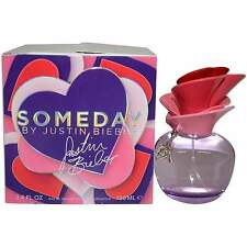 Women SOMEDAY by Justin Bieber 3.3 oz / 3.4 oz 100 ml NEW  BOX WITH TOP CUT