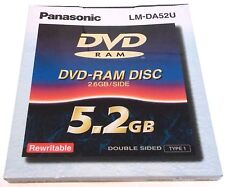 NEW SEALED - PANASONIC DVD-RAM DATA DISC 5.2GB DOUBLE-SIDED REWRITABLE LM-DA52U