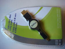 "30"" RC-MCCA-RA4 Retractable USB A (M) to 4-pin USB Mini-B Cable 17706-4"
