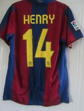 Barcelona Henry 14 2007-2008 Home Football Shirt Talla / 39036