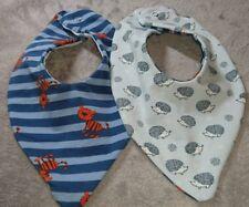 DaWanda Baby  Halstuch / Wendetuch blau grau Streifen Tiger Igel Jersey