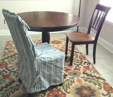 Pottery Barn Chair Covers Slip covers Dining Room/Island Striped Blue White