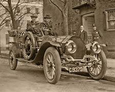 TEDDY ROOSEVELT 8X10 Great Photograph in Stutz Bearcat ca 1915