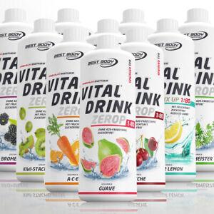 Best Body Nutrition Low Carb Vital Drink 1 L Getränke Konzentrat Sirup 9,90€/L