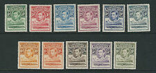 BASUTOLAND 1938 KGVI definitives complete (Scott 18-28) VF MH