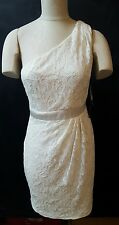 Simply Liliana One Shoulder Dress Size 8 Ivory Lace  Cocktail Party Prom Lined