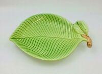 Fitz & Floyd Green Leaf Trinket Dish Snack Tray Plate Japan Vintage