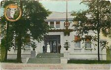 Seattle~Alaska Yukon Pacific 1909 Exposition~Emergency Hospital~Nurse on Steps