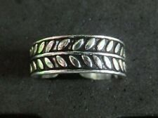 Leaf Design *strong, sturdy ring* .925 Silver New listing Solid Silver Toe Ring X 1 *Bn*